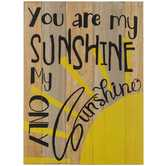 You Are My Sunshine Wood Wall Decor